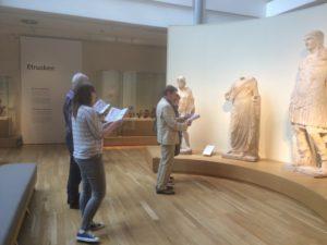 Via Latina route op de Romeinse afdeling van het Rijksmuseum van Oudheden te Leiden.